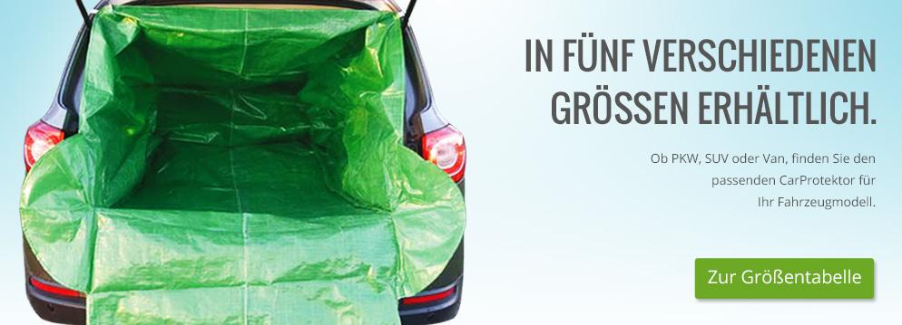 CarProtektor - In fünf verschiedenen Größen erhältlich